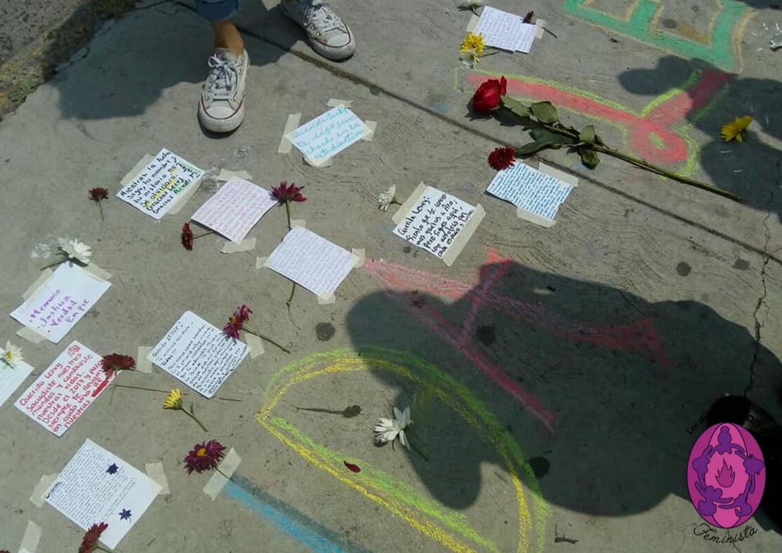 """Desde el grupo de acompañamiento: """"Querida Lesvy (Ber)"""". Cartas para ella. #Justicia #amor/ Foto: Las del Aquelarre. Jueves 26 de septiembre 2019"""