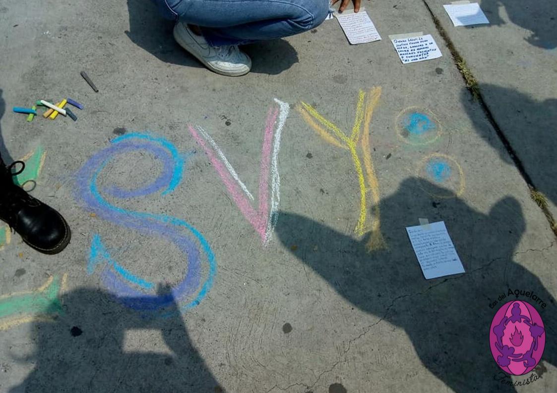 """Desde el grupo de acompañamiento: """"Querida Lesvy (Ber)"""". Cartas para ella. #Justicia #amor/ Foto: Las del Aquelarre. Jueves 26 de septiembre 2019Desde el grupo de acompañamiento: """"Querida Lesvy (Ber)"""". Cartas para ella. #Justicia #amor/ Foto: Las del Aquelarre. Jueves 26 de septiembre 2019"""