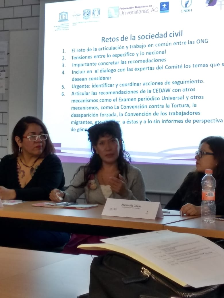 Participan Las del Aquelarre en seminario: La experiencia de las colectivas Feministas en la UNAM